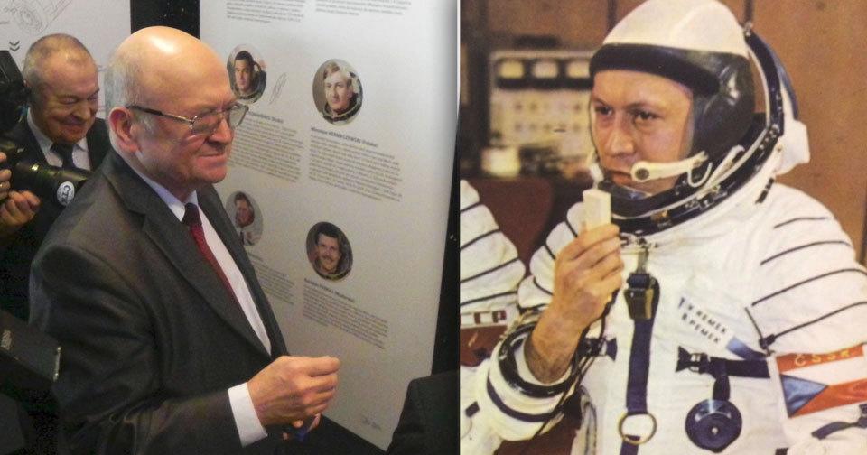 Vladimír Remek zahájil v Brně výstavu ke 40. výročí jeho letu do vesmíru.