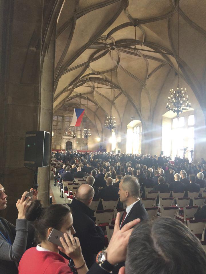Vladislavský sál během inaugurace Miloše Zemana (8. 3. 2018)