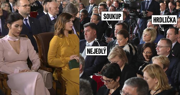 Zasedací pořádek na inauguraci: Mynářovou posadili do první řady, Soukupa s Hrdličkou před generály.