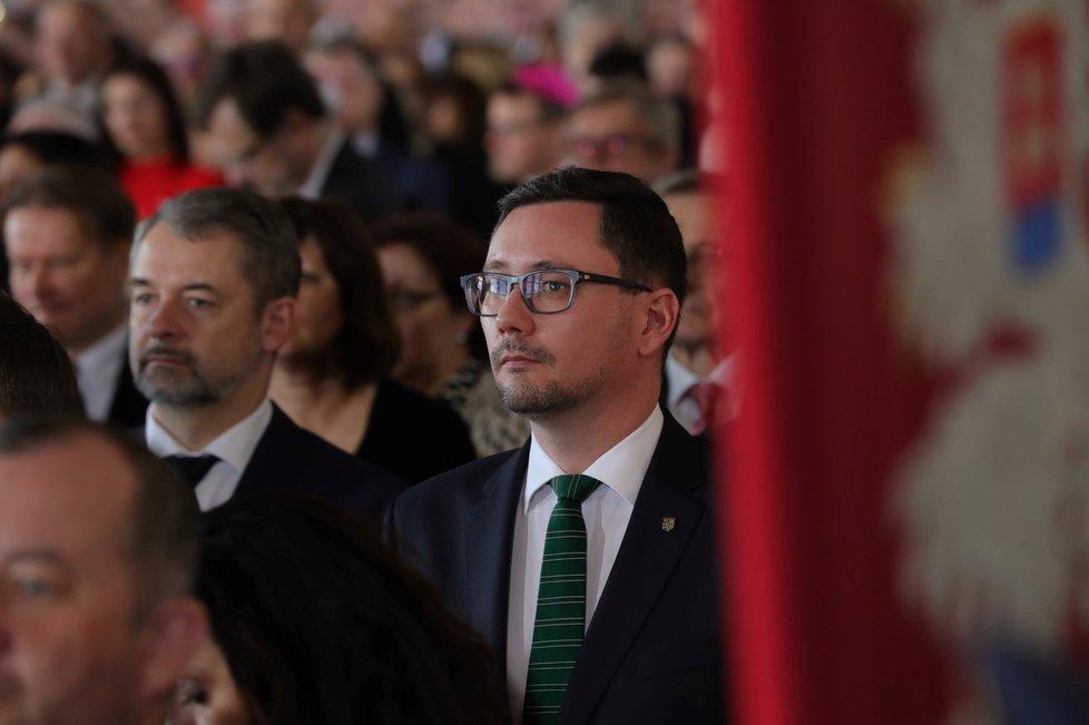 Prezidentův mluvčí Jiří Ovčáček na inauguraci prezidenta Miloše Zemana (8. 3. 2018)