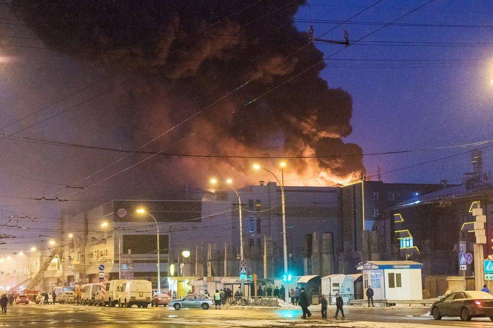 Požár obchodního centra v sibiřském městě Kemerovo