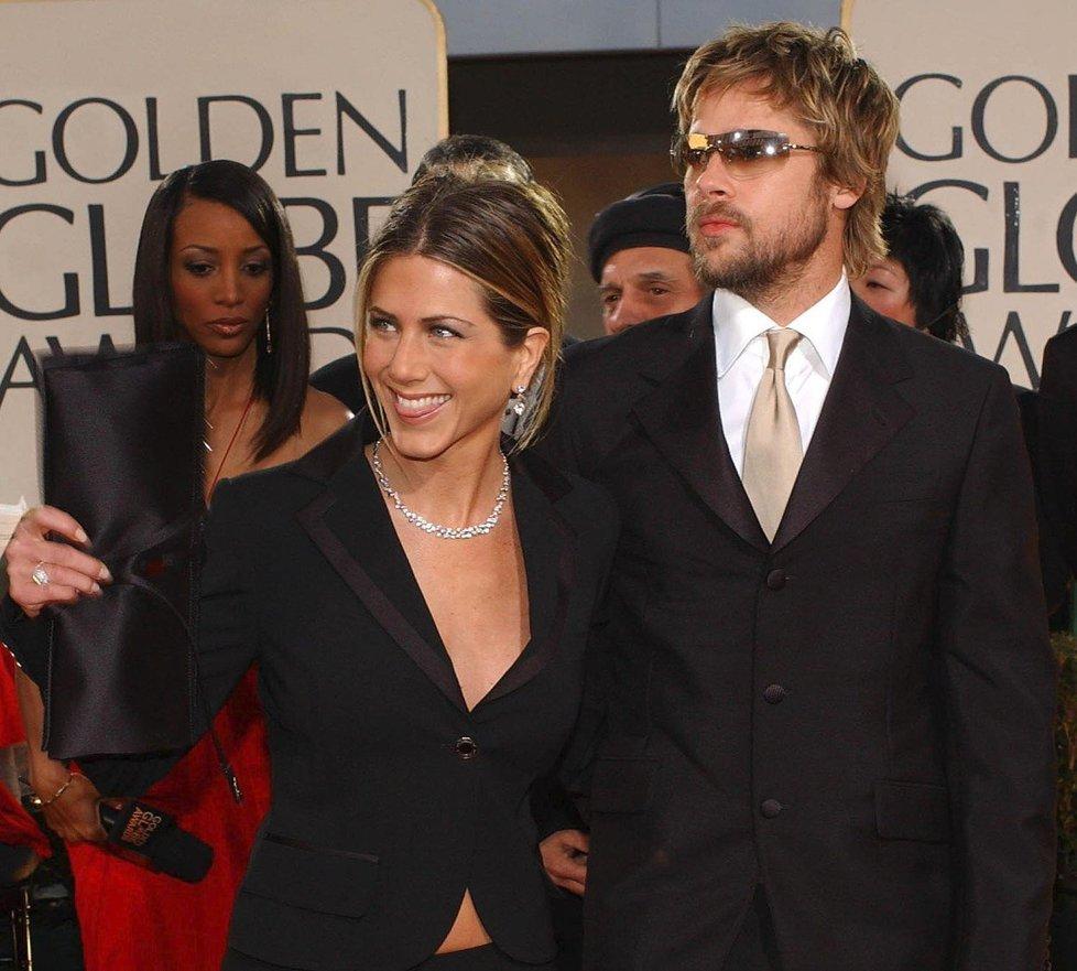 Brad Pitt s Jennifer Aniston v roce 2002.