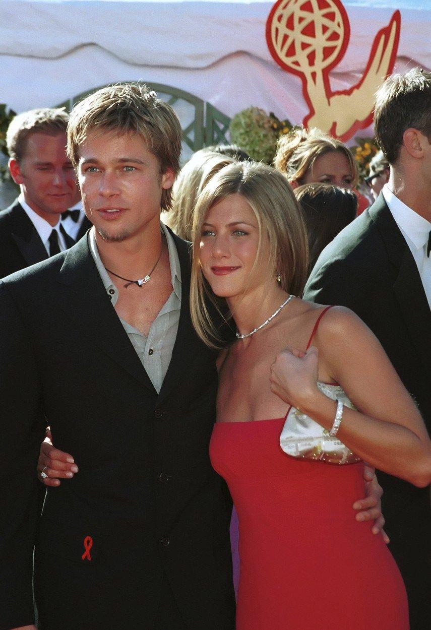 Brad a Jennifer v roce 2000.