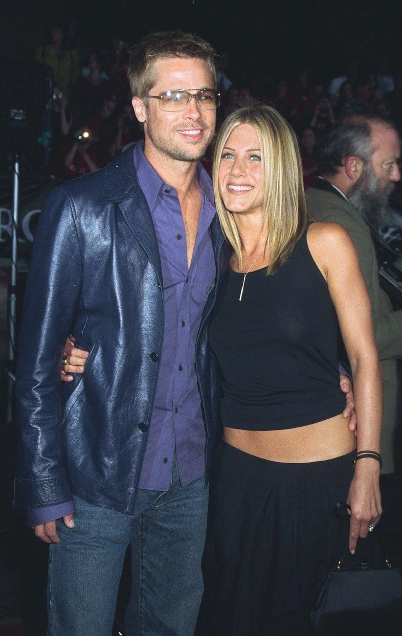 Brad a Jennifer v roce 2001.