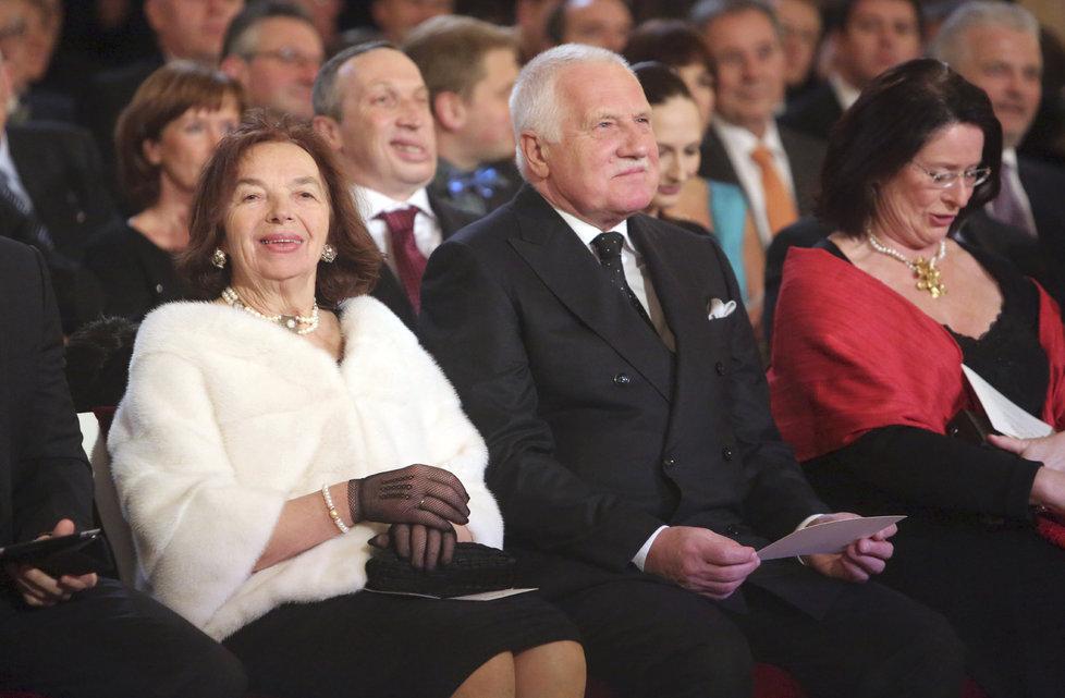 Václav a Livia Klausovi na Hradě. Oba v prezidentských volbách podpořili Miloše Zemana.