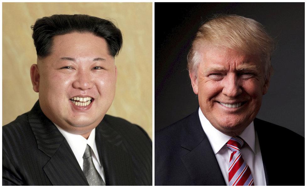 Severokorejský vůdce Kim Čong-un a americký prezident Donald Trump.
