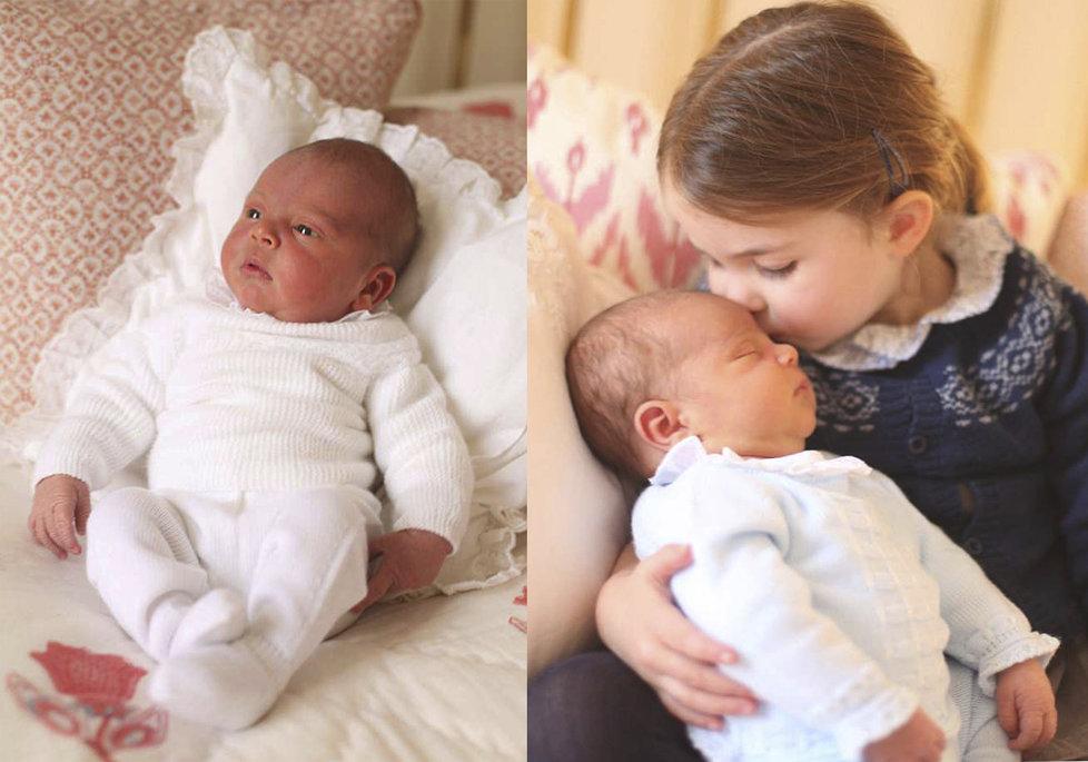 Kate s Williamem zveřejnili první snímky novorozeného prince Louise