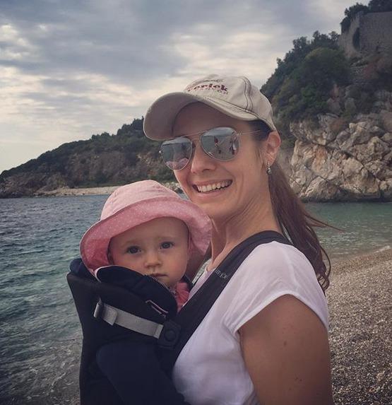 Jana Doleželová s dcerou v Dubrovníku