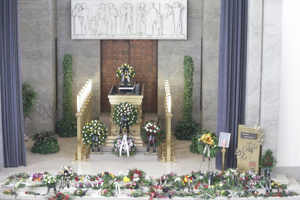 Pohřeb Jany Skálové
