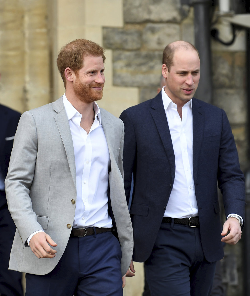 Princové Harry a William ve Windsoru