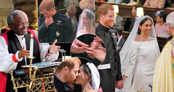 Nejsilnější momenty svatby prince Harryho a Meghan Markle.