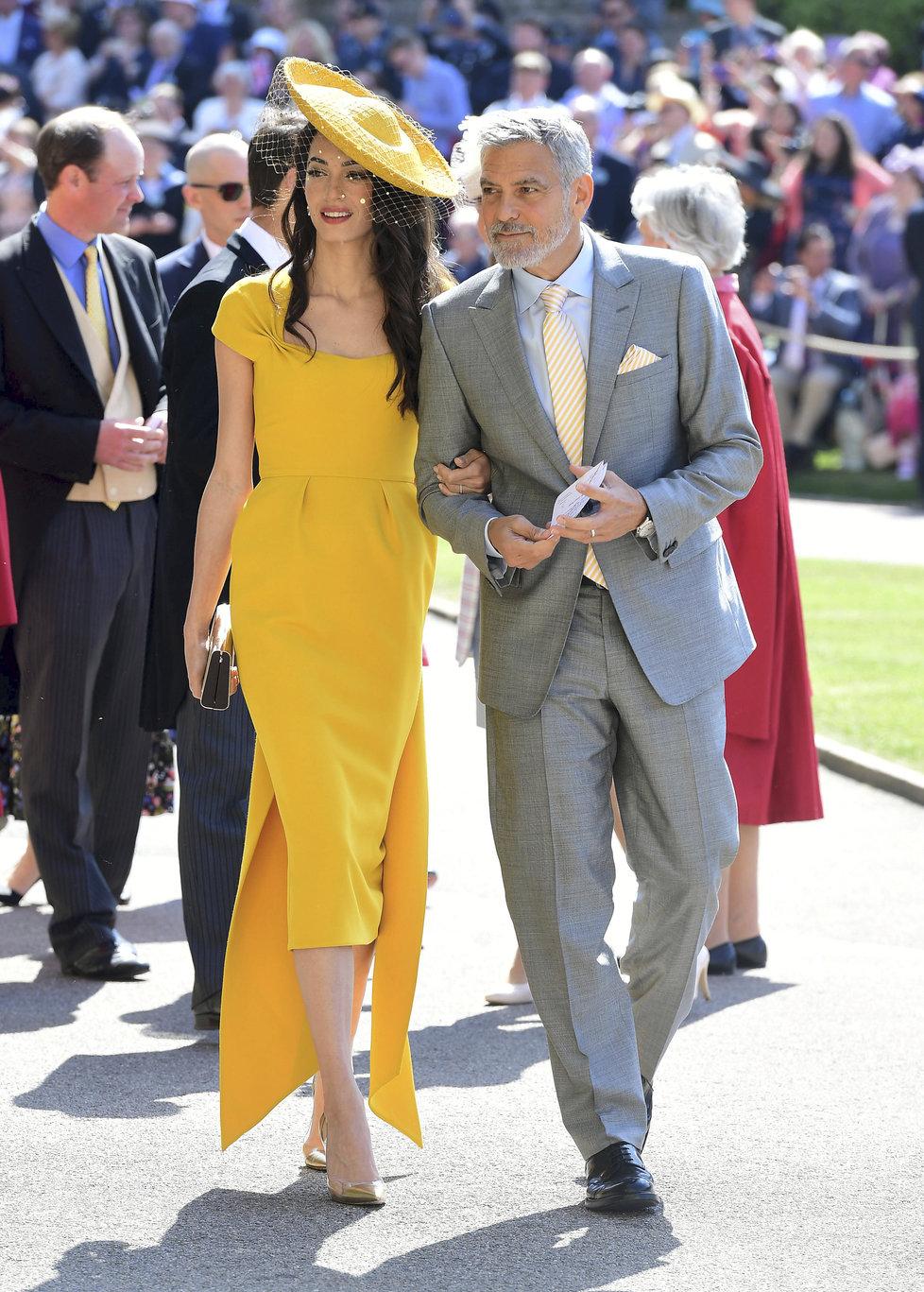 George Clooney s manželkou: Body pro Amal