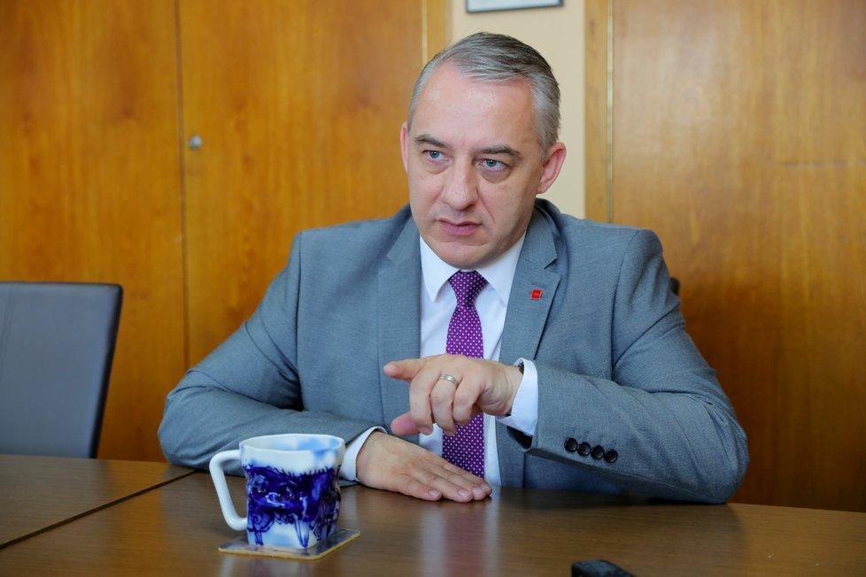 Předseda ČMKOS, odborový předák Josef Středula v rozhovoru pro Blesk.