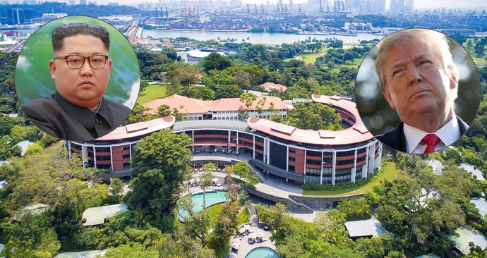 Summit mezi KLDR a USA se uskuteční v singapurském hotelu Capella na ostrově Sentosa.