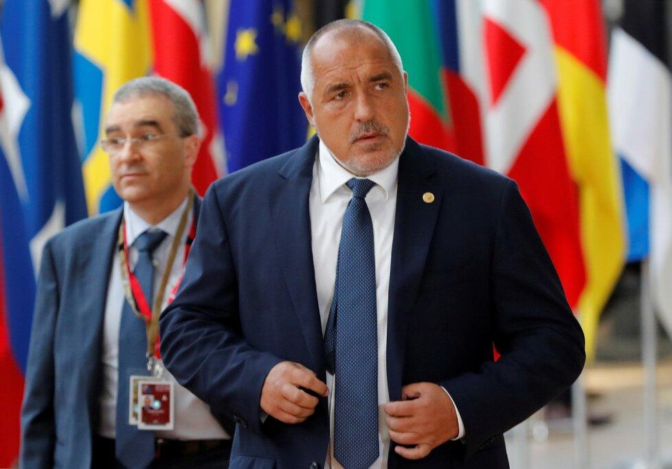 Bulharský premiér Bojko Borisov na summitu v Bruselu.
