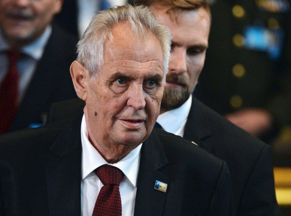Miloš Zeman na summitu NATO