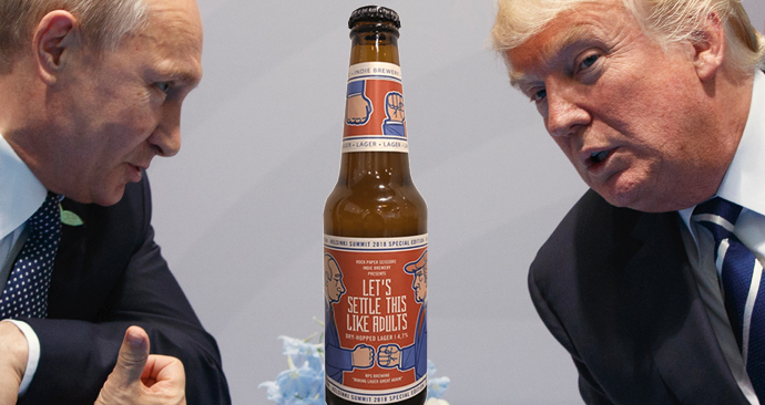 Trump se s Putinem sejde v Helsinkách. K příležitosti vznikla speciální edice piva
