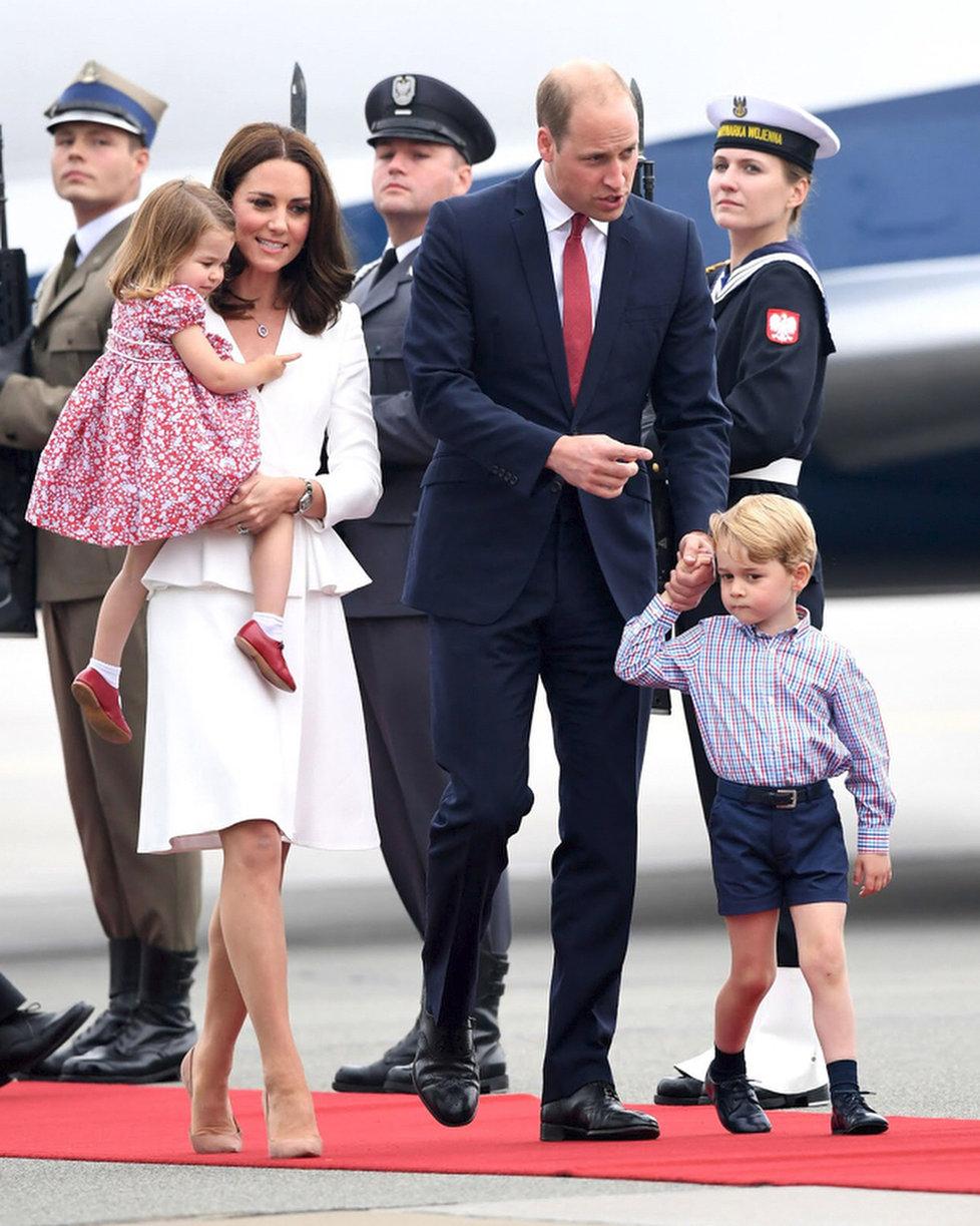 Princ George s rodinou