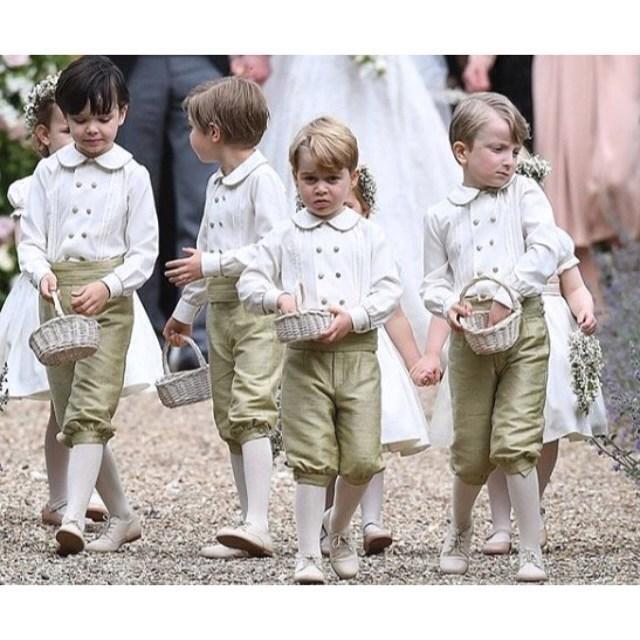 Princ George na svatbě své tety Pippy
