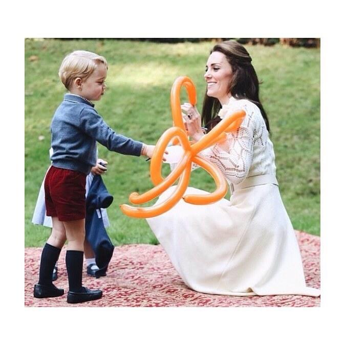 Princ George s maminkou Kate