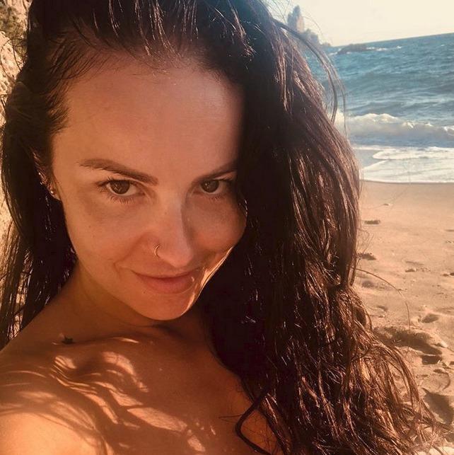 Katarína Knechtová na dovolené