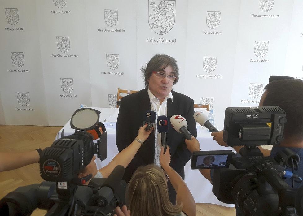 Předseda senátu Nejvyššího soudu (NS) Zdeněk Krčmář
