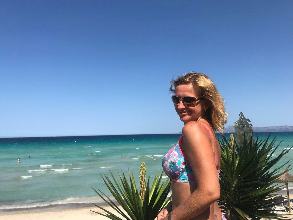 Terezie Tománková na dovolené