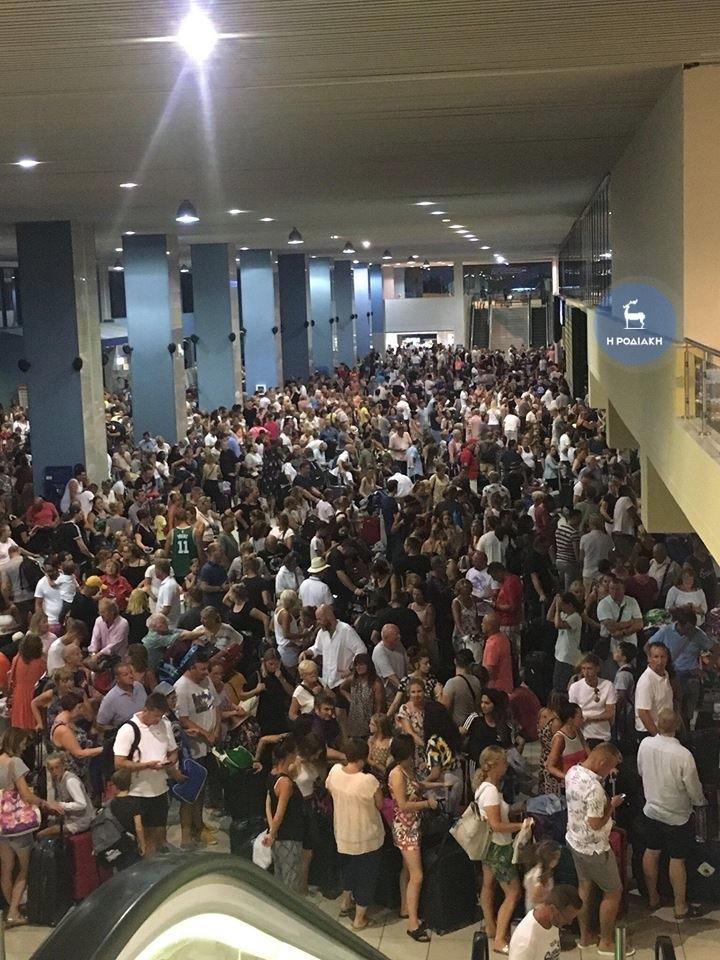 Na letišti na Rhodosu došlo 29. 7. k výpadku.