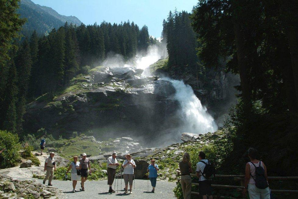 Krimmelské vodopády v rakouských Alpách