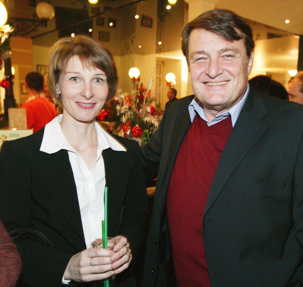 2005 - Ladislav Štaidl s expartnerkou Míšou Novotnou ve společnosti
