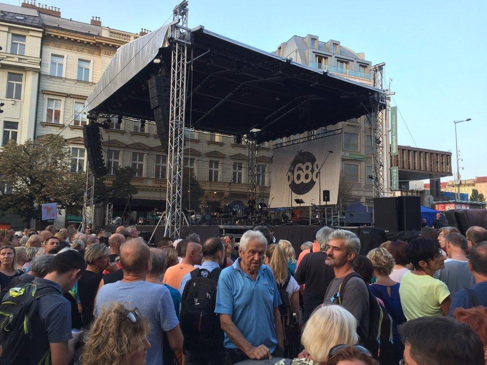 Koncert ´68 na Václavském náměstí dne 21. srpna 2018.