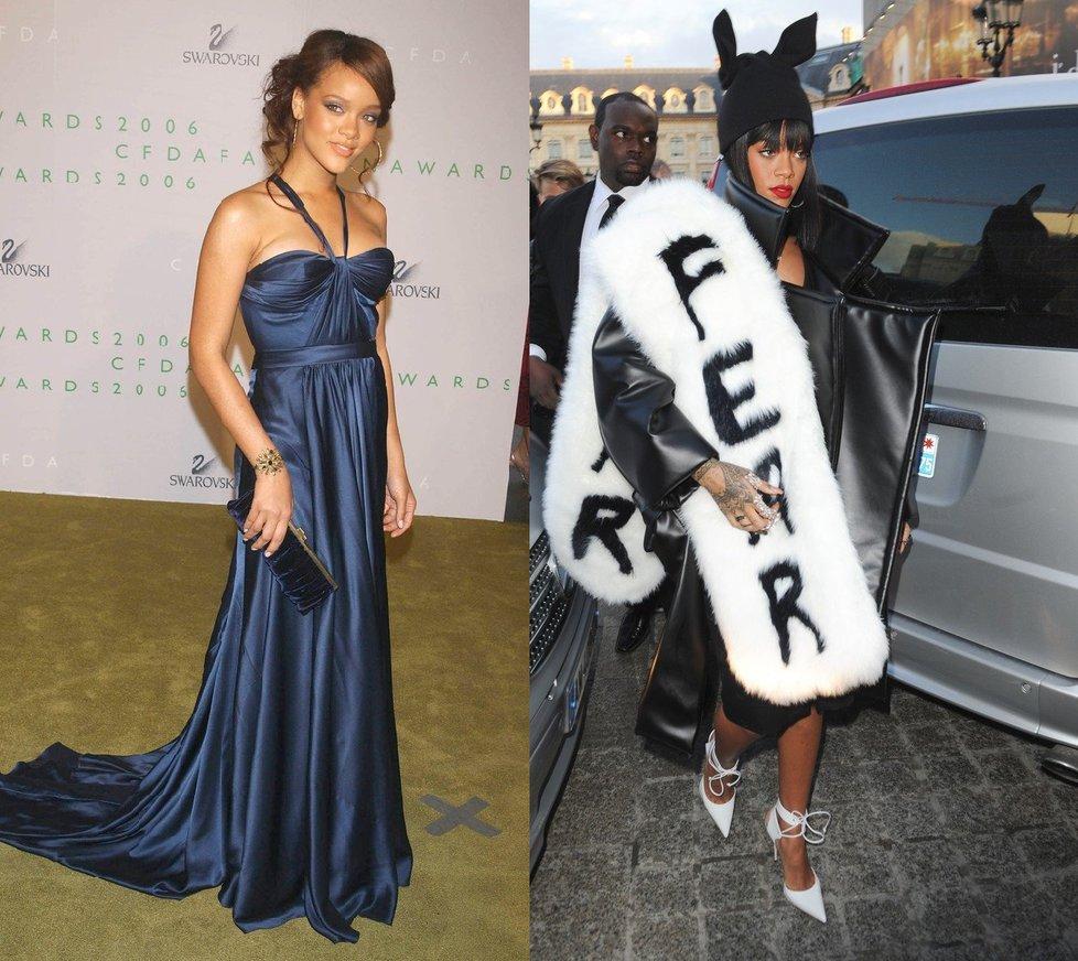 Rihanna přešla z obyčejných outfitů k extravagantní módě díky svému  stylistovi. 3cca0d9f72