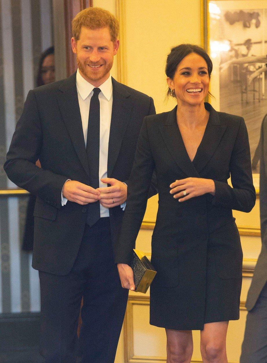 Vévodkyně Meghan s princem Harrym