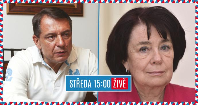 Senátní duel Blesku: Jiří Paroubek a Eva Syková