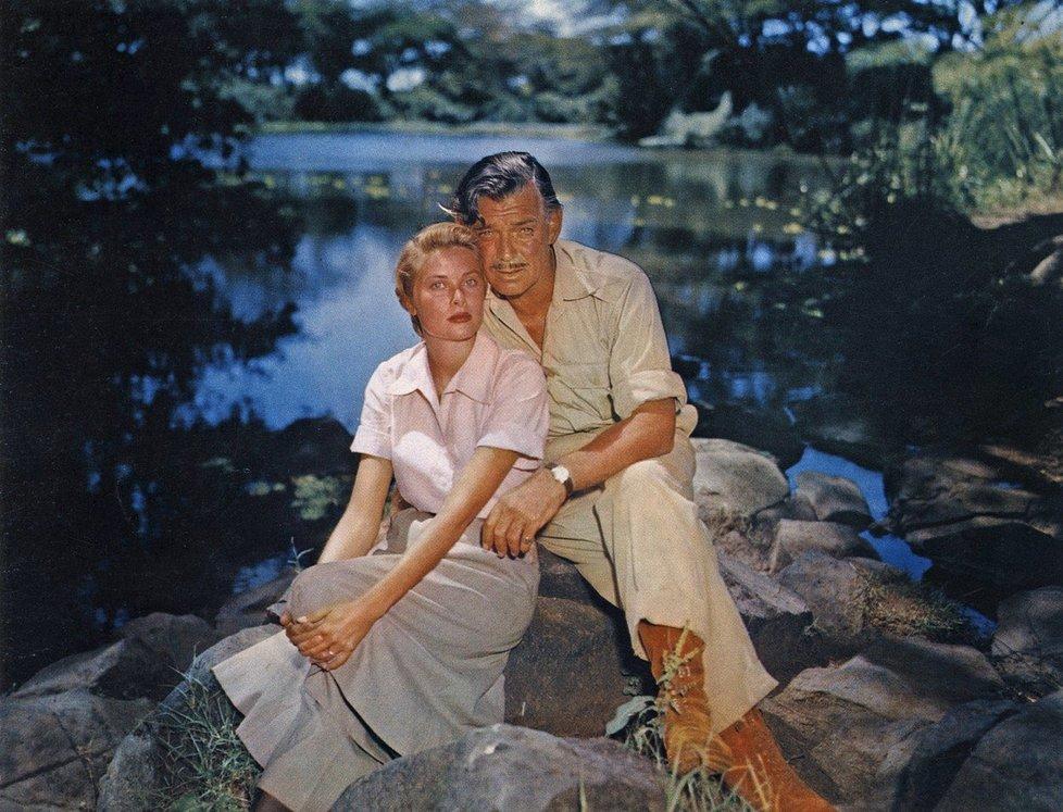Grace s kolegou Clarkem Gablem v roce 1953 ve filmu Mogambo