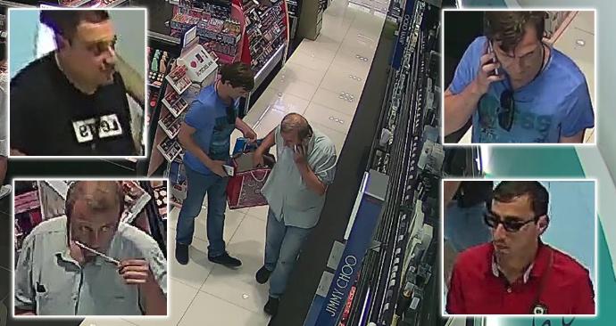 Pražští policisté hledají čtyři muže, kteří kradli v obchodě s parfémy na Zličíně.