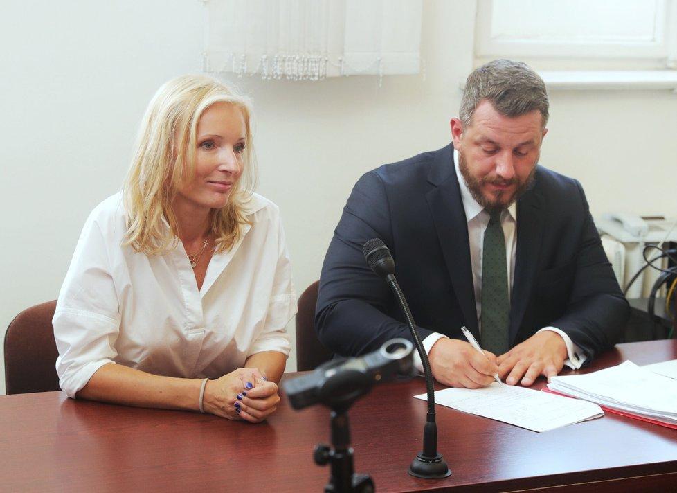 Petra Paroubková u soudu
