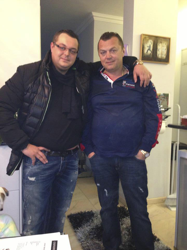 Jan Kočka s otcem.