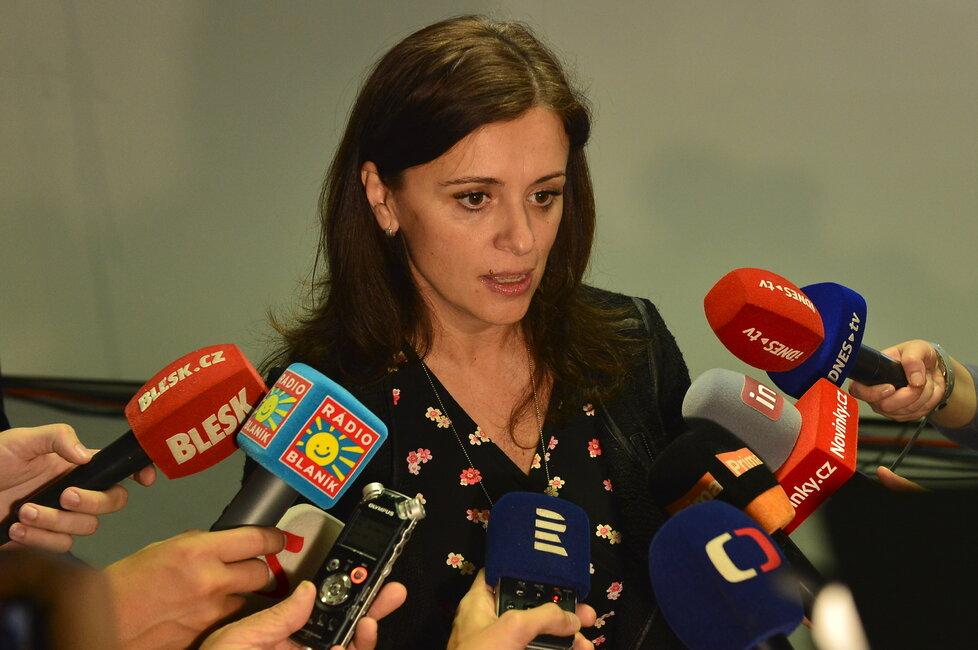 Hejtmanka Jaroslava Pokorná Jermanová ve štábu ANO (6.10.2018)