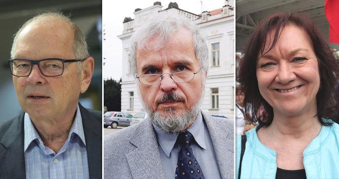 Ivan Pilný, Ivan David i Marta Semelová. Bývalý politici, kteří neuspěli v senátních volbách v Praze 12.