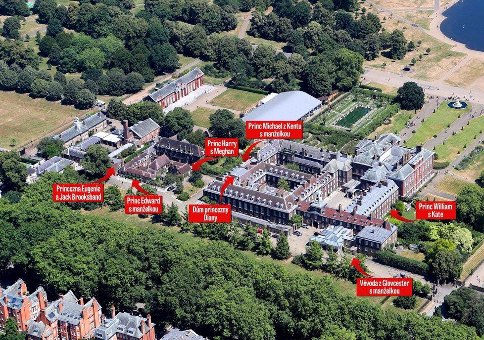 Královské rodiny v Kensingtonském paláci