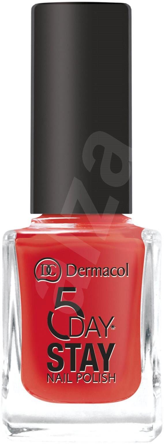 Dlouhotrvající lak na nehty Dermacol, odstín Monroe Red, 99 Kč, koupíte v síti drogérií