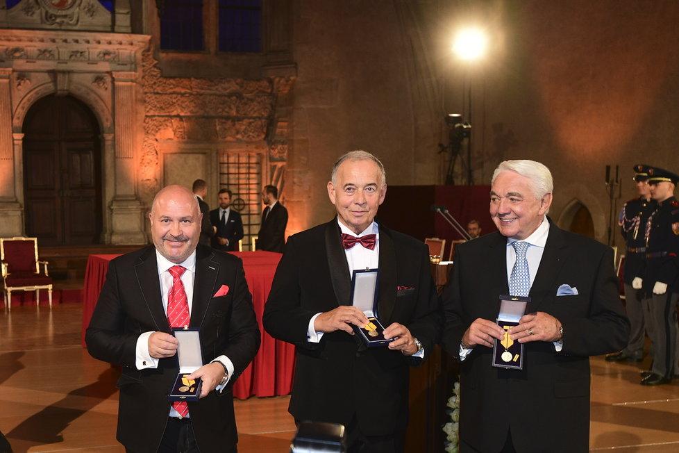 Zleva Michal David, Ivan Vyskočil a Jiří Krampol