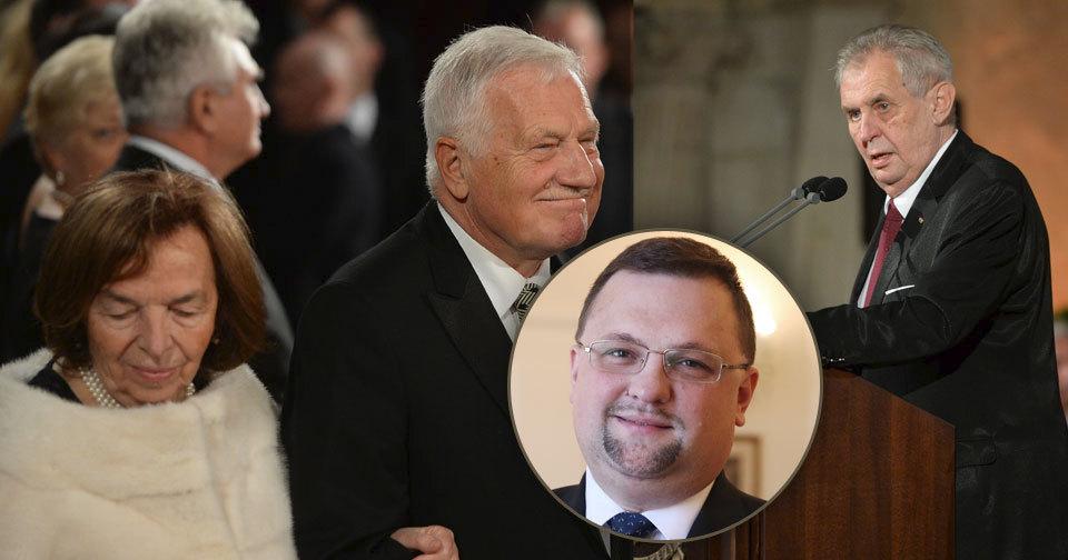 Přešlapy ve Vladislavském sále: Zeman zazdil Lívii Klausovou