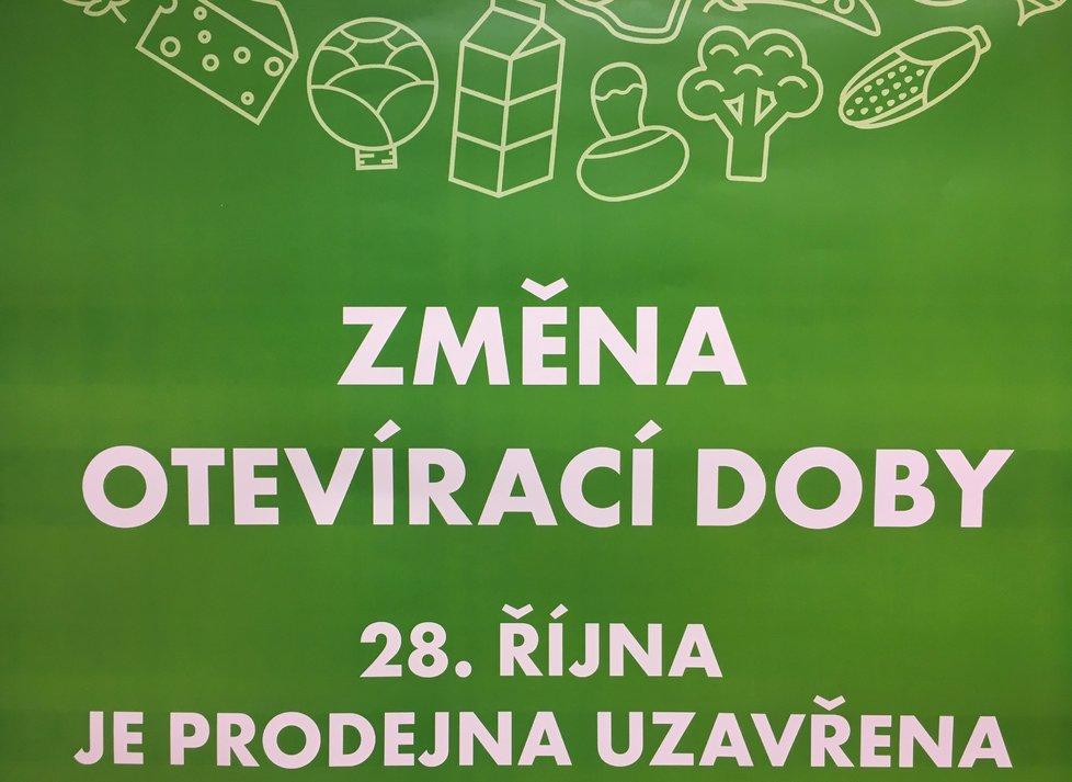 28. října jsou velké obchody v Česku uzavřené a čeká nás to i letos. Zákon totiž nabude platnost po podpisu prezidenta až prvního dne následujícího kalendářního měsíce