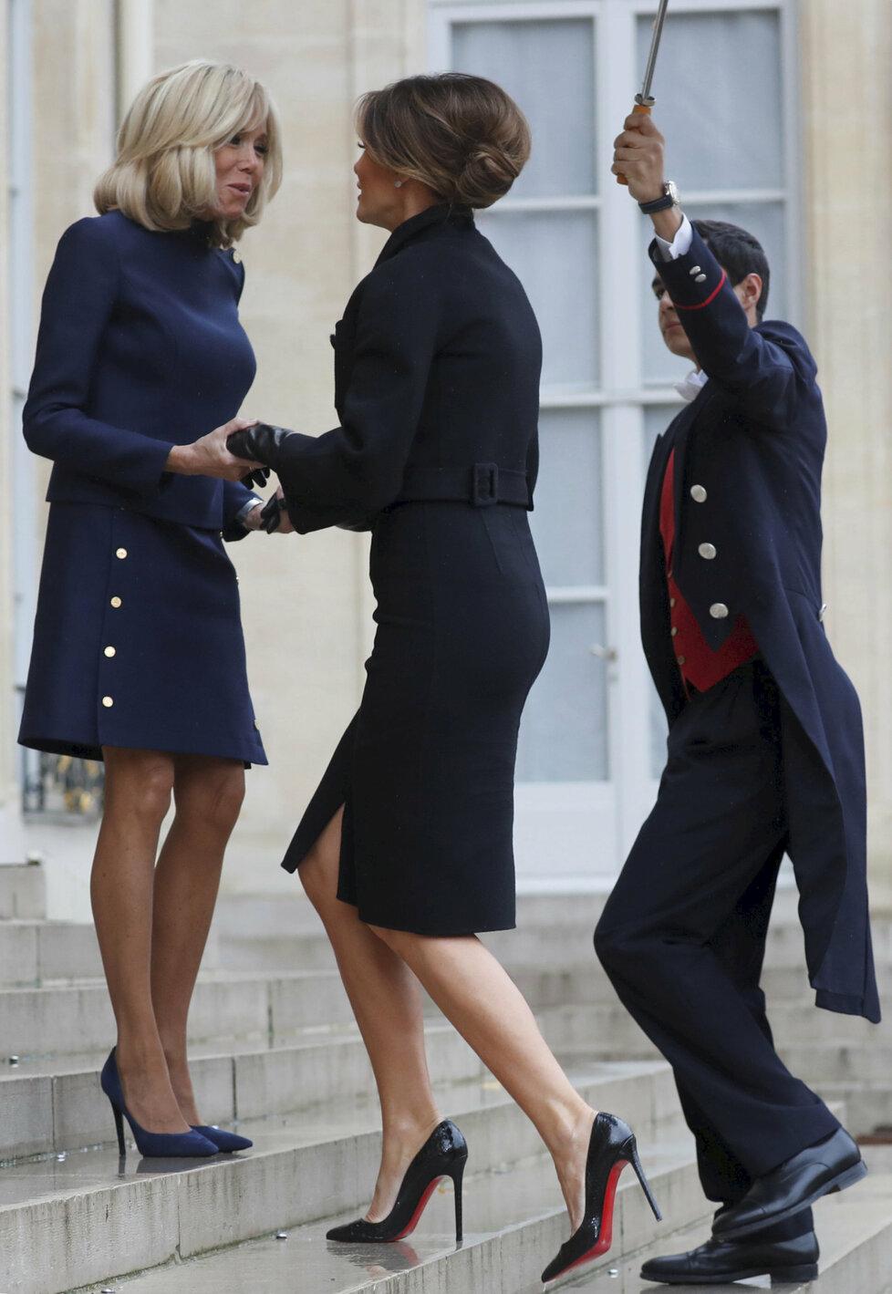 Brigitte Macron a Melanie Trump