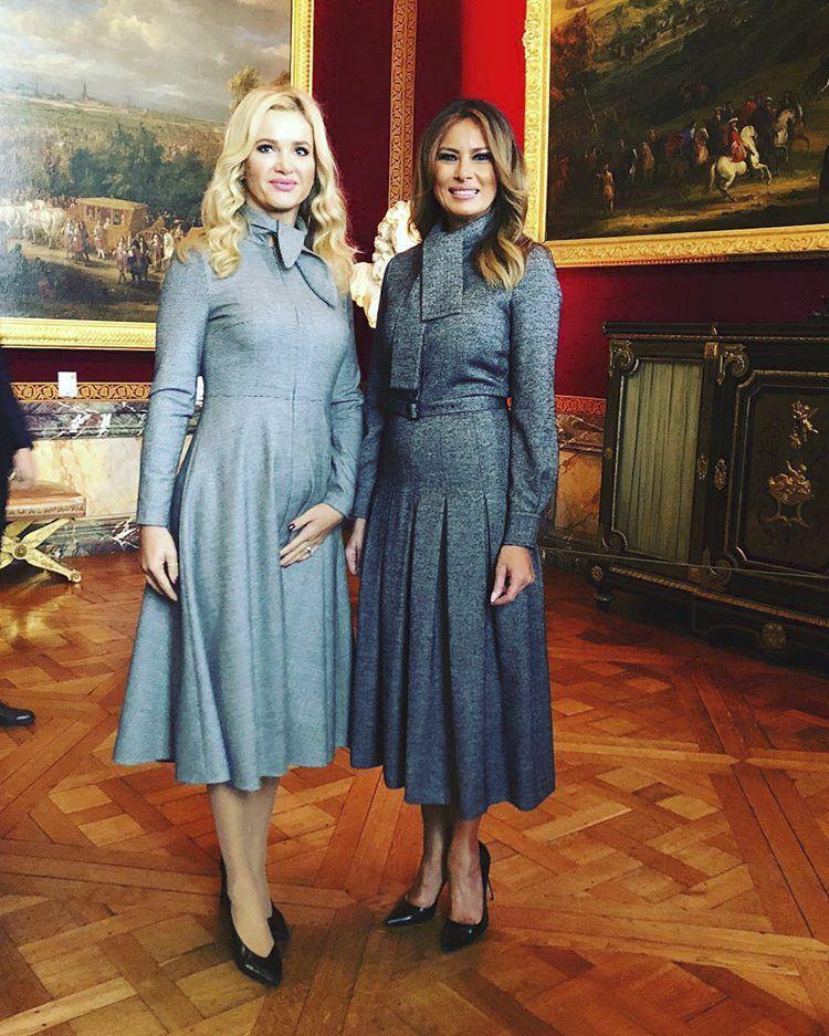 Monika Babišová a Melanie Trump