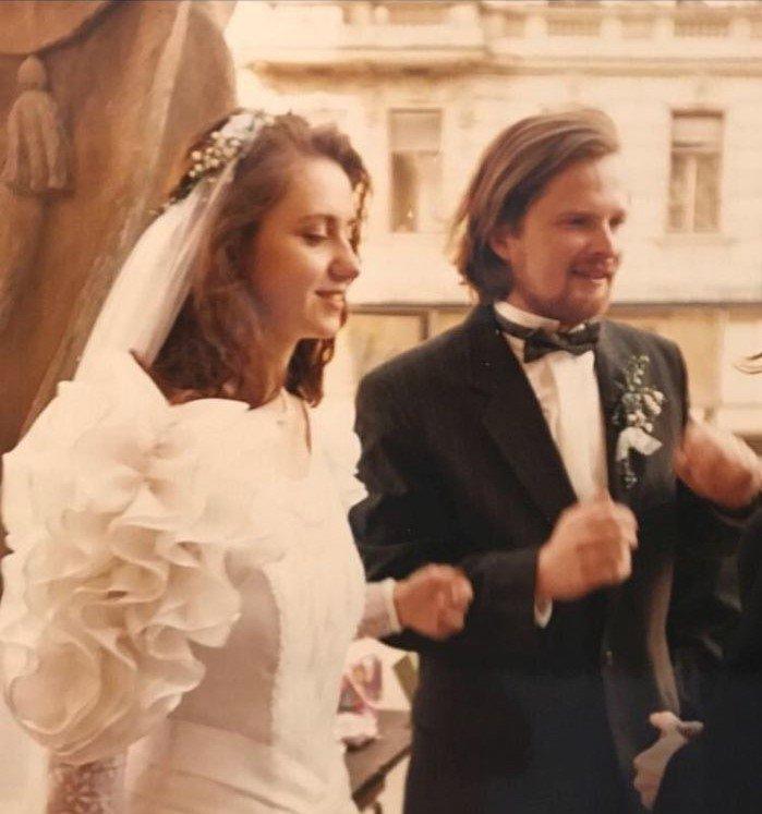 Petr Fiala (ODS) poznal svo uženu Janu na demonstracích