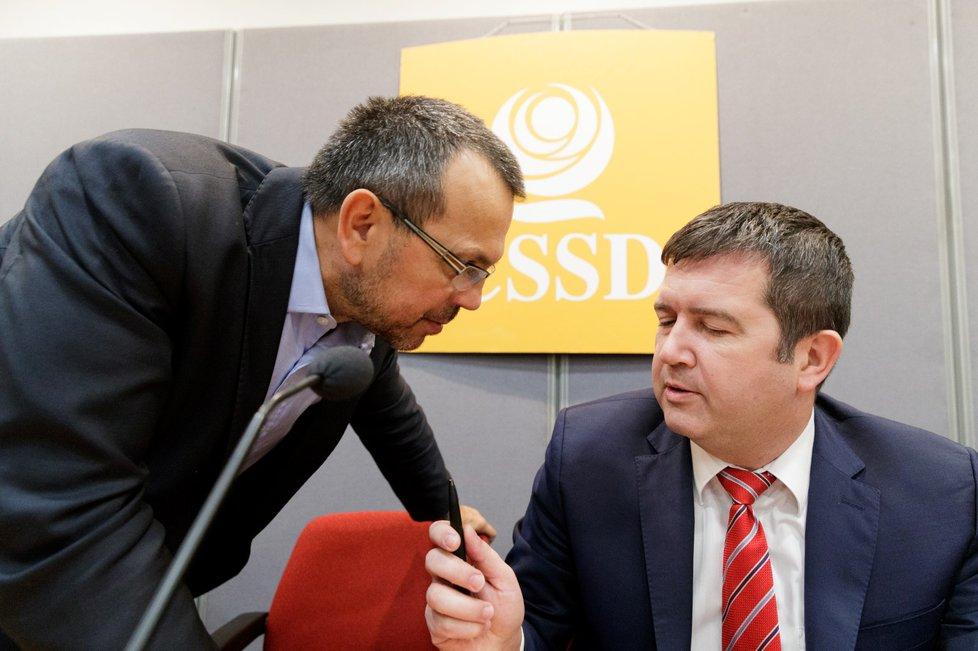 Předsednictvo ČSSD: Jaroslav Foldyna a Jan Hamáček (21.11.2018)