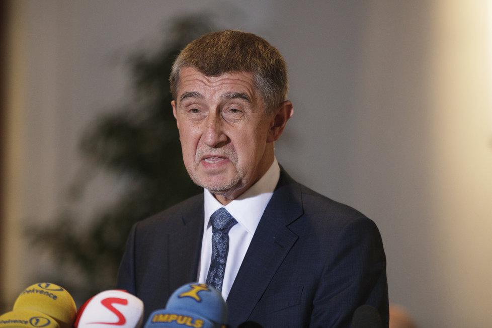 Andrej Babiš na tiskovce ve Sněmovně po hlasování o nedůvěře vládě (23.11.2018)